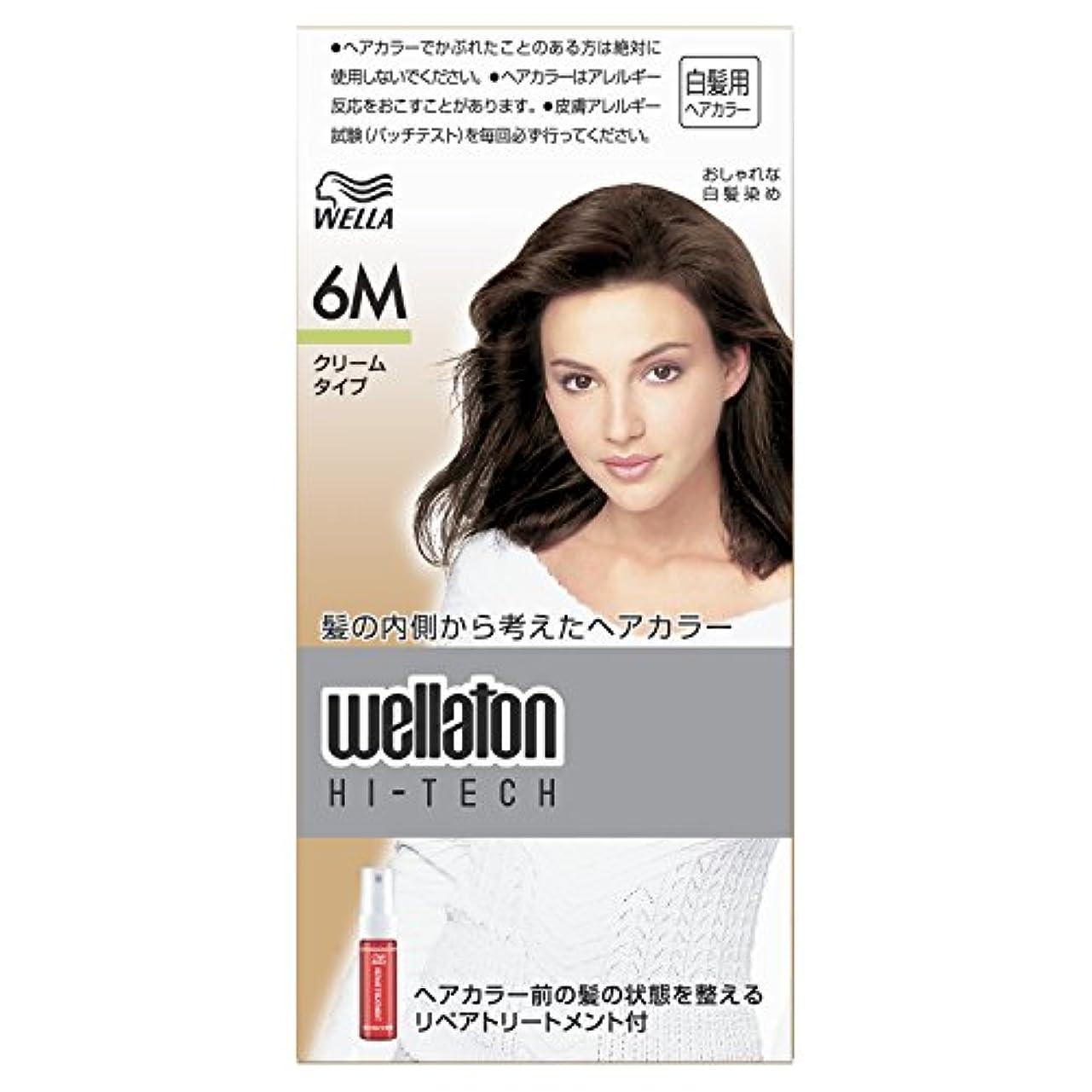 焦がすマディソンアクセサリーウエラトーン ハイテック クリーム 6M [医薬部外品](おしゃれな白髪染め)