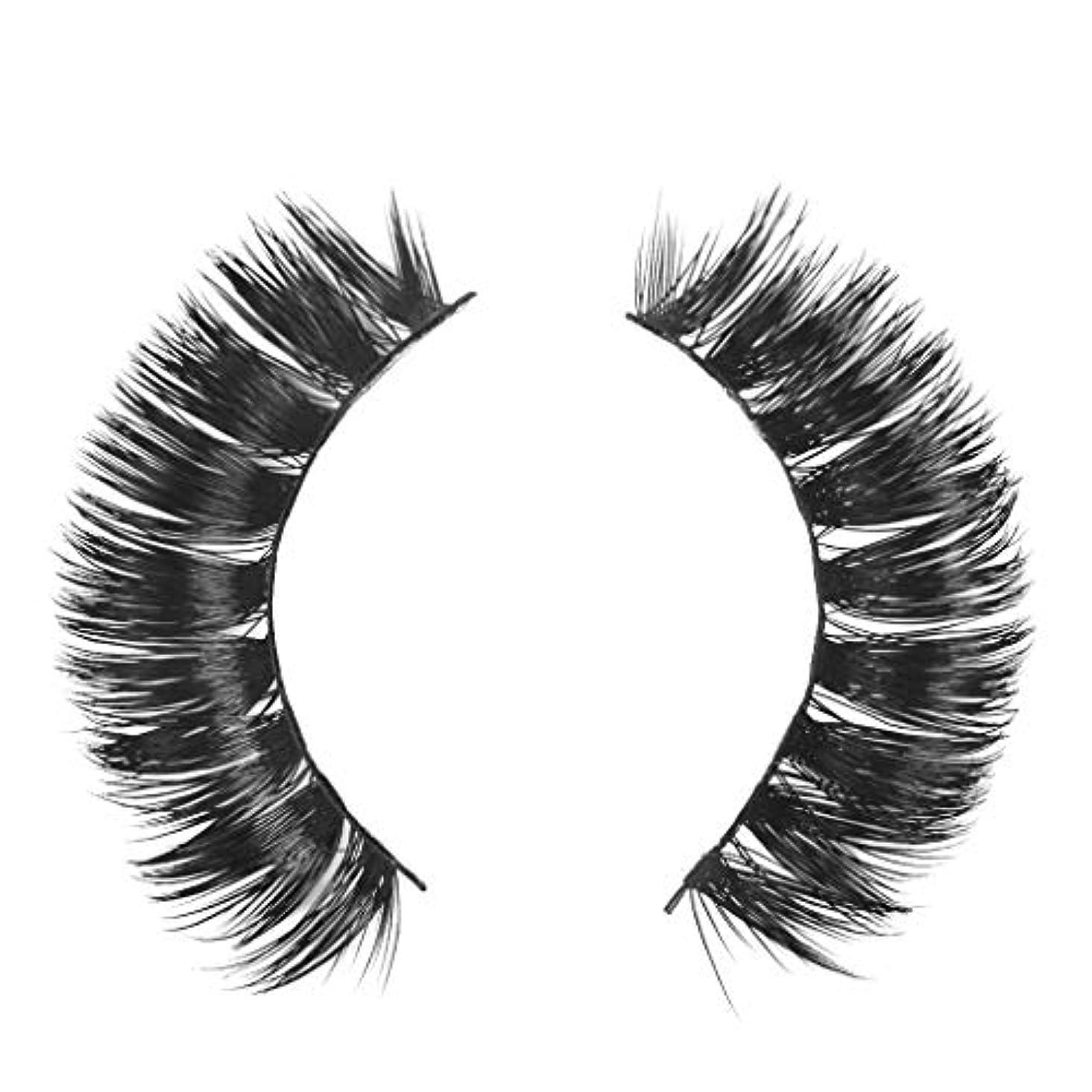 サークルネコ溶けるミンクの毛の自然な厚くなる化粧品の3D版のための一組のまつげ