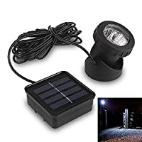Briday 6 LED Underwater Solar Power Spot Light Outdoor Garden Lawn Lamp Waterproof