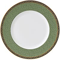 Wedgwood India Green Accent Dinner Plate, Cream [並行輸入品]