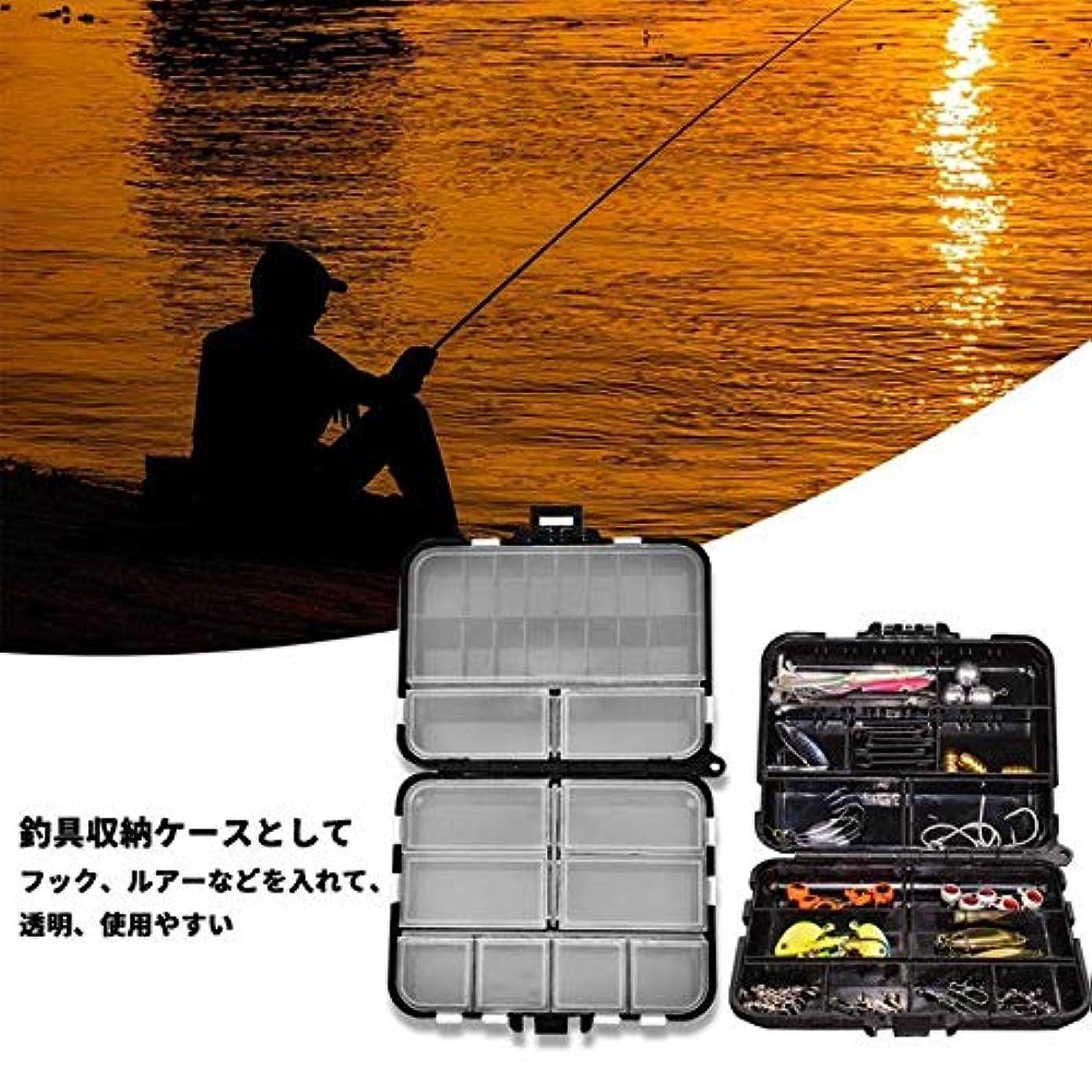 サイズ実り多い割れ目釣り タックルボックス 釣具収納 ルアーケース ポータブル 仕掛け小物入れ 個々のコンパートメント 持ち運び易い 釣り道具 ボックス 釣りの