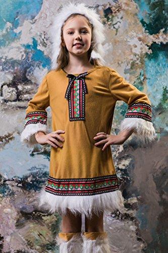 Kids Girls Eskimo GirlハロウィンコスチュームアラスカIce SweetieドレスUp & Role Play 3-6 years ブラウン Eskimo Girl