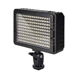 UTEBIT CN-160 ビデオライト LED 160球 定常光ライト 1200ルーメン 撮影ライト 3200K 5500K 調光 ライトスタンドに固定可 撮影 照明 for 一眼レフ ビデオ カメラ 単三 乾電池 / リチウムバッテリ / AC アダプター給電 PT-160