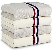 タオル フェイスタオル タオルセット 綿100% ふんわり 高速吸水 速乾 耐久性 抗菌 防臭 人気 柔らかい肌触り 90g/枚 4枚セット 家庭/業務/ホテル/スポーツなど用