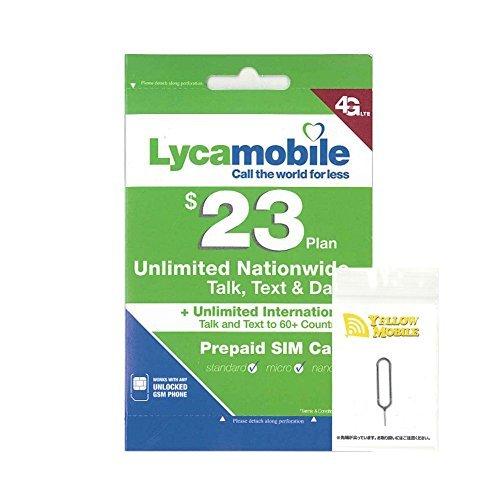 アメリカ・ハワイSIM lycamobile 30日LTE1...