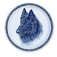 デンマーク製 ドッグ・プレート (犬の絵皿) 直輸入! Groenendael / グローネンダール
