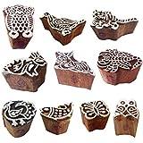 一時的な刺青 木製ブロック アジア人 小さい 動物 鳥 モチーフ 印刷スタンプ (のセット 10)