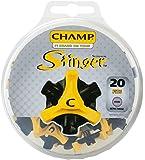 CHAMP(チャンプ) ゴルフシューズ靴鋲 スティンガー 3 (ミリ)20P  S-87 黒/黄