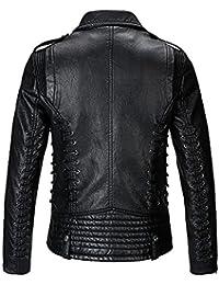 レザージャケット メンズ 革ジャン レザーコート メンズ ライダースジャケット 革コート ブルゾン 黒色