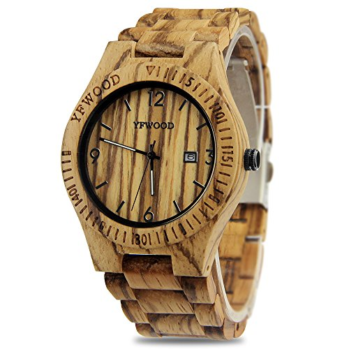 676d90b471 YFWOOD 木製腕時計 メンズに圧倒的な人気腕時計 優しい木の温もりを ...