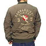 参丸一[サンマルイチ] FROG MA-1 総刺繍 和柄ジャケット/アウター/SOU-10728--3カーキ--L