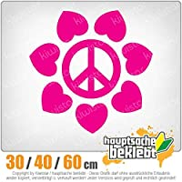Flower Peace - 3つのサイズで利用できます 15色 - ネオン+クロム! ステッカービニールオートバイ
