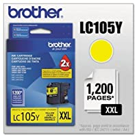 Brother International Corp lc105y lc105y、lc-105y、Innobellaスーパー大容量インク、1200ページ印刷可、イエロー