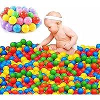 Happyear 100個Crush Proof Pit Balls、フリーBPAソフトプラスチックバルーンfor Babies子供用子供安全Ocean Playpen Balls Preschool Toys