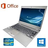 【Microsoft Office 2016搭載】【Win 10搭載】TOSHIBA R632/F/第三世代Core i5 1.8GHz/超大容量メモリー8GB/SSD:128GB/新品外付けDVDスーパーマルチ/13インチ/無線LAN搭載/中古ノートパソコン/ (メモリー:8GB)