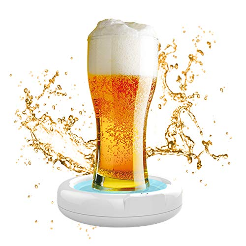 Hootracker 超音波式 ビールサーバー 新型電動式神泡サーバー ピクニックのお祝いとパーティーに適した簡単に使えるビールバブラー 白