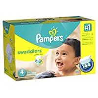 Pampers Swaddlers Disposable Diapers Size 4, 144 Count, ECONOMY PACK PLUS