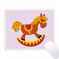 揺り木馬。ピンク。キッズインテリア。人気のある画像。 PC Mouse Pad パソコン マウスパッド