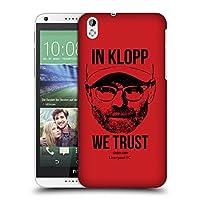 オフィシャル Liverpool Football Club フルフェイス・レッド Jurgen Klopp イラストレーション HTC Desire 816 専用ハードバックケース