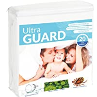 (Queen) - UltraGuard Ultimate Queen-Size Mattress Protector - Hypoallergenic & Safe, Sleep-Enhancing Cotton Design, Waterproof, Breathable & Noiseless Material For Maximum Comfort, Fitted Sheet
