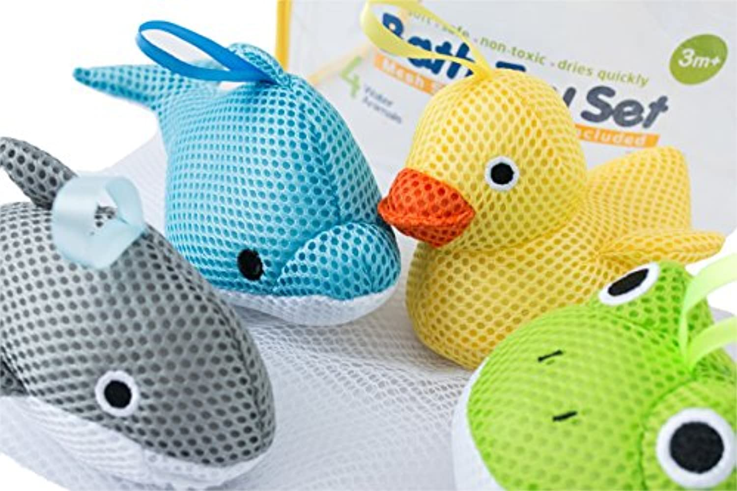 Bath Toys - Soft, Safe & Educational for Baby & Toddlers - Best Set for Kids of All Ages - Interactive Play & Games for Boys and Girls - Use In or Out of Tub - BONUS Case & Mesh Net Organizer Bag for Storage & Drying - Easy to Clean, Without Holes - NO Mold - Satisfaction Guaranteed! by Simple Lines Company