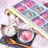 [創味菓庵] もちもち葛桜とつるるん桜ゼリー 小 国産 2種 8個 ?花 果? [包装紙済]