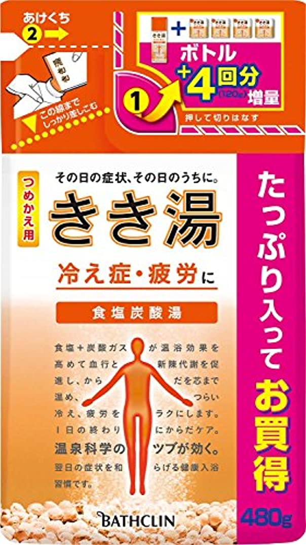 きき湯 食塩炭酸湯 つめかえ用480g 入浴剤 (医薬部外品)