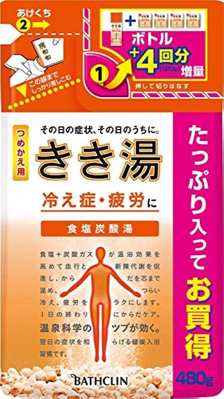 シンボル開示する合併症きき湯 食塩炭酸湯 つめかえ用480g 入浴剤 (医薬部外品)