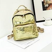 MIOIM マザーズバッグ PU レザーバッグ スパンコール レディース ハンドバッグ おしゃれ 2セット (ゴールド)