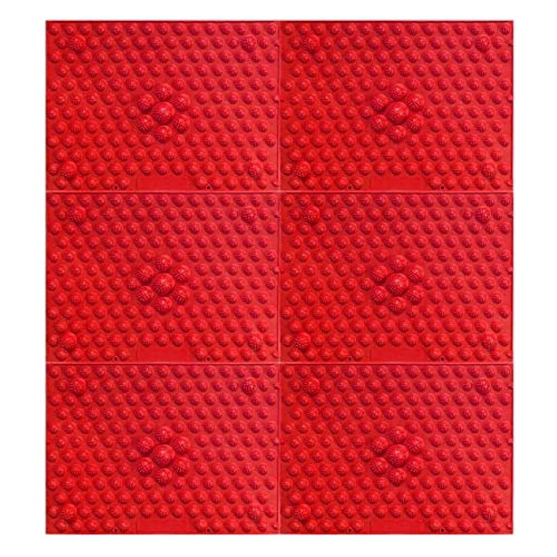 工場鬼ごっこウッズ疲れsirazu(足踏みマット)ピンク6枚セット (赤)