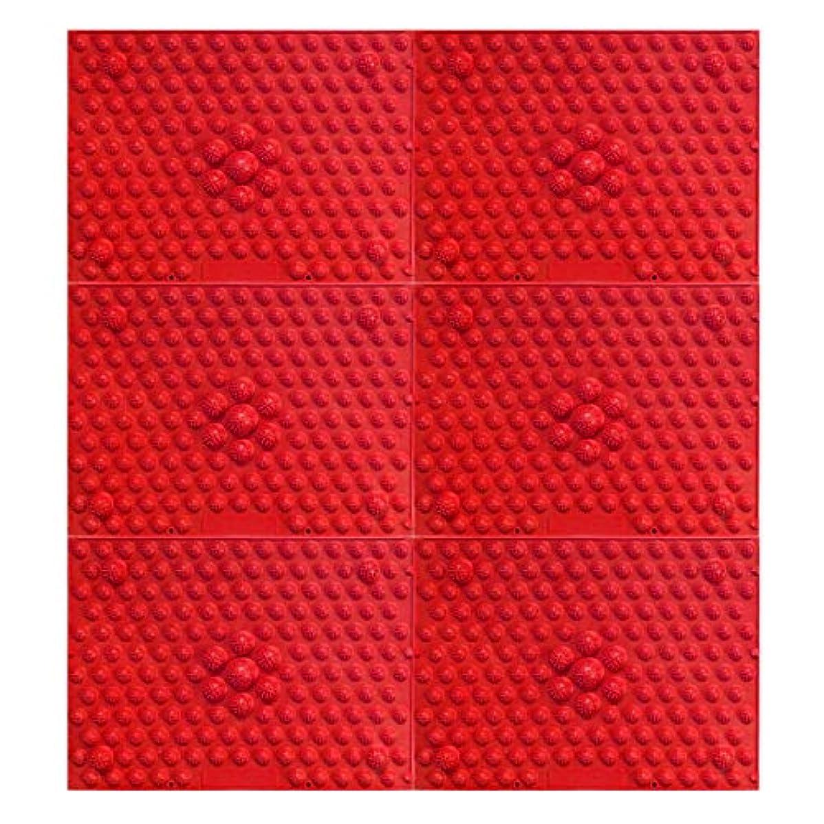 凍った教えてパノラマ疲れsirazu(足踏みマット)ピンク6枚セット (赤)