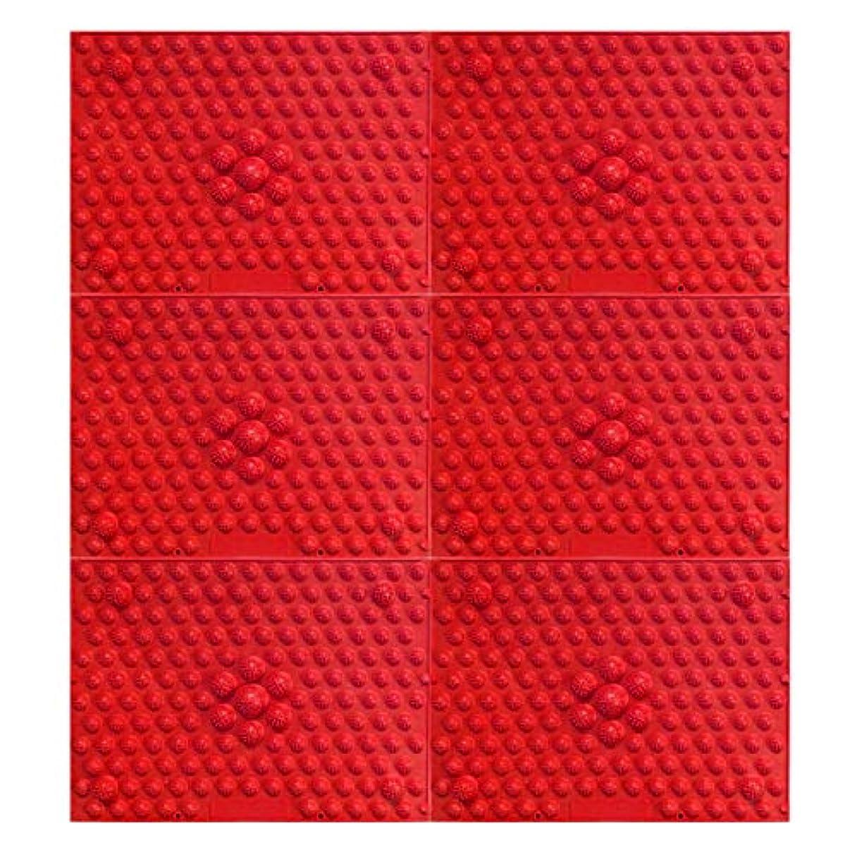 流体仕立て屋数学的な疲れsirazu(足踏みマット)ピンク6枚セット (赤)