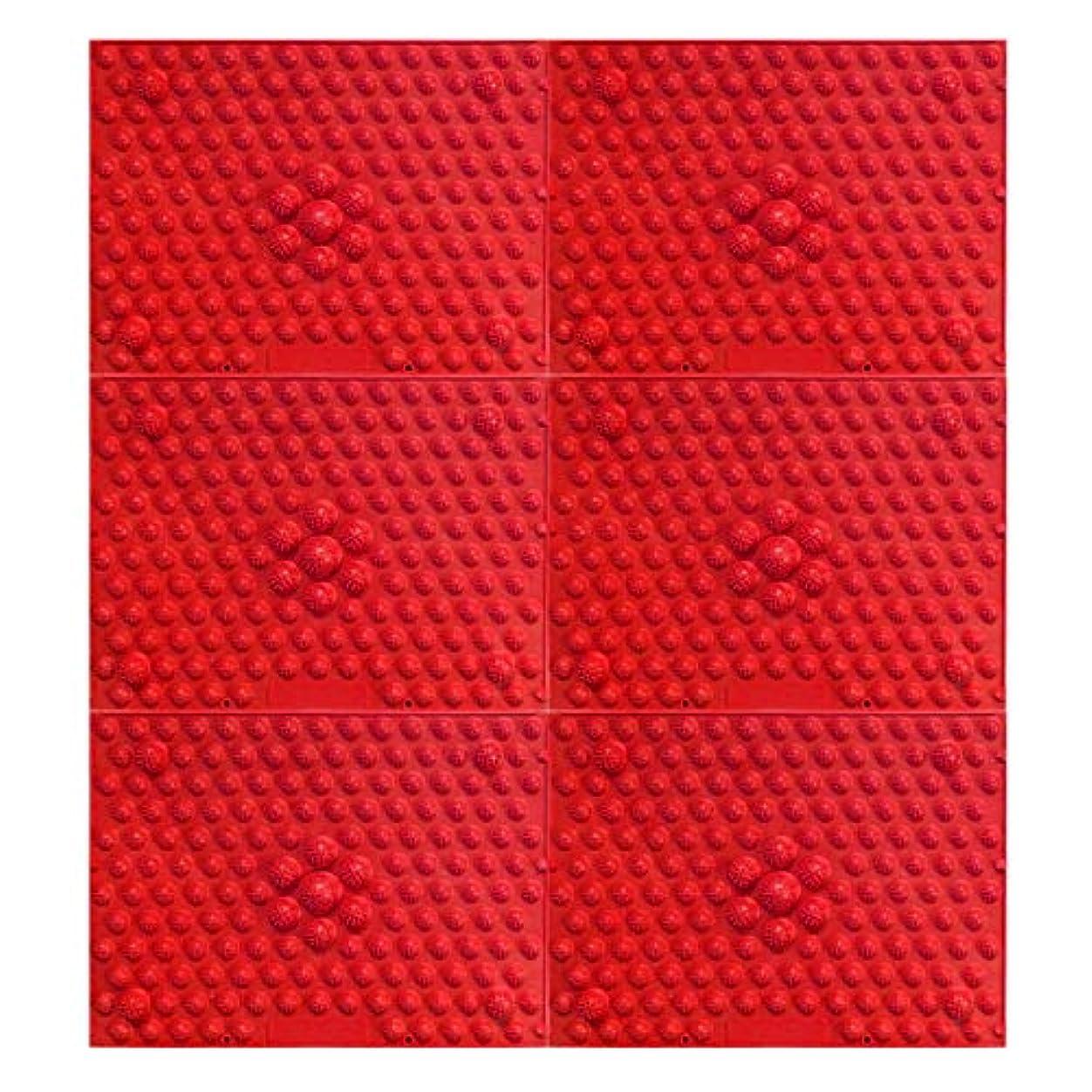 ハーフフォージ変装した疲れsirazu(足踏みマット)ピンク6枚セット (赤)