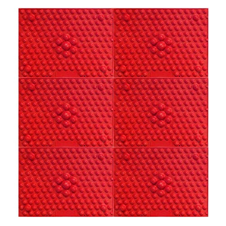 作る目覚める戸口疲れsirazu(足踏みマット)ピンク6枚セット (赤)