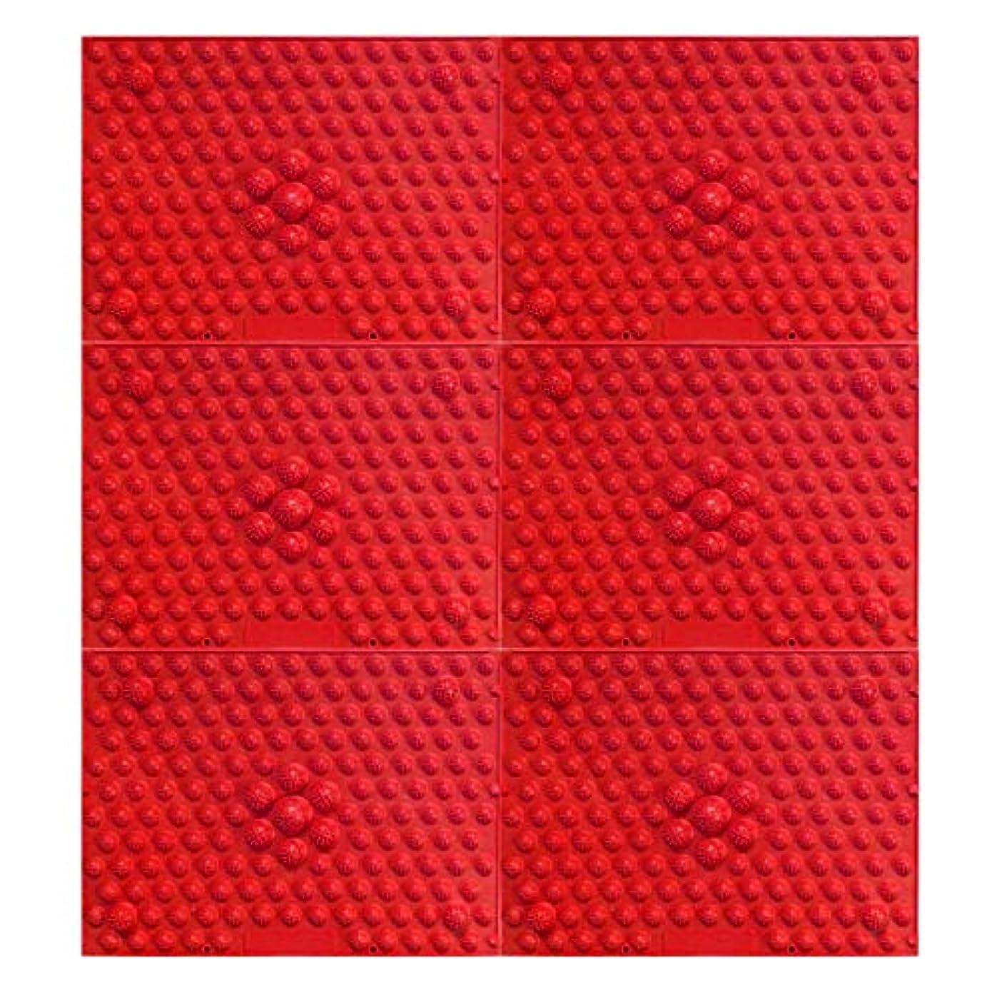 オートマトンシングル祖先疲れsirazu(足踏みマット)ピンク6枚セット (赤)