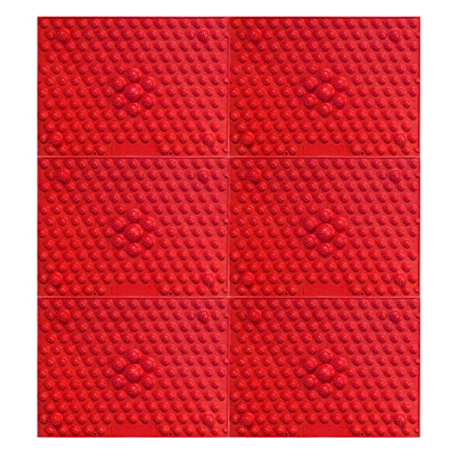 きしむ議題ランタン疲れsirazu(足踏みマット)ピンク6枚セット (赤)