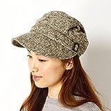 コムサデモード(ファッショングッズ)COMME CA DU MODE(FASHION GOODS) ツィード風キャスケット(帽子/レディース)【ベージュ/**】