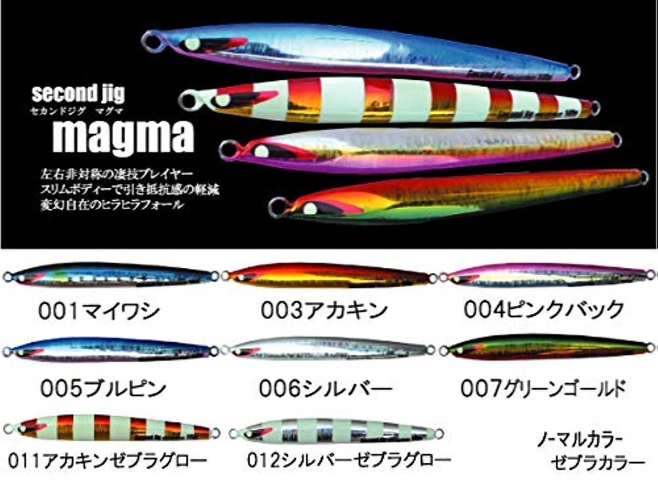 財産検出費用セカンドステージ(Second Stage) メタルジグ secondjig magma 003 アカキン 165g