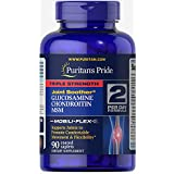Puritan's Pride Triple Strength Glucosamine, Chondroitin & MSM Joint Soother, Caplets, 90ct