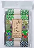 レーヨンちりめん・緑系柄カットクロスセット(22×16.5cmが7枚入)
