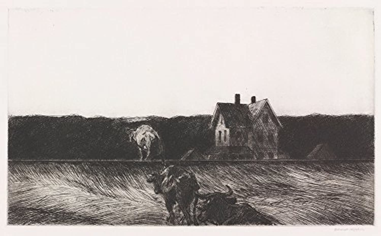 Edward Hopper ジクレープリント キャンバス 印刷 複製画 絵画 ポスター (アメリカの風景)
