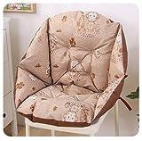 Samoyad 椅子型クッション 座椅子 腰の負担を軽減 (ブラウン絵柄)