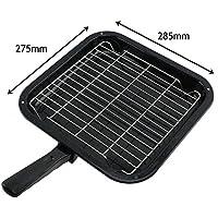 spares2go Small Squareグリルパン、ラック&取り外し可能ハンドルfor Bekoオーブン調理器