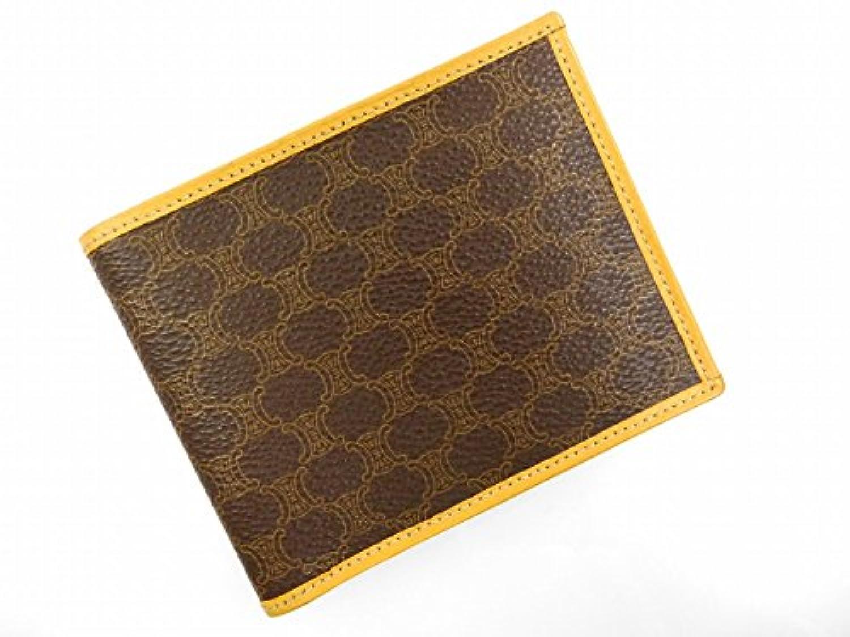 [セリーヌ] CELINE 二つ折り財布 マカダム PVC×レザー X16487 中古