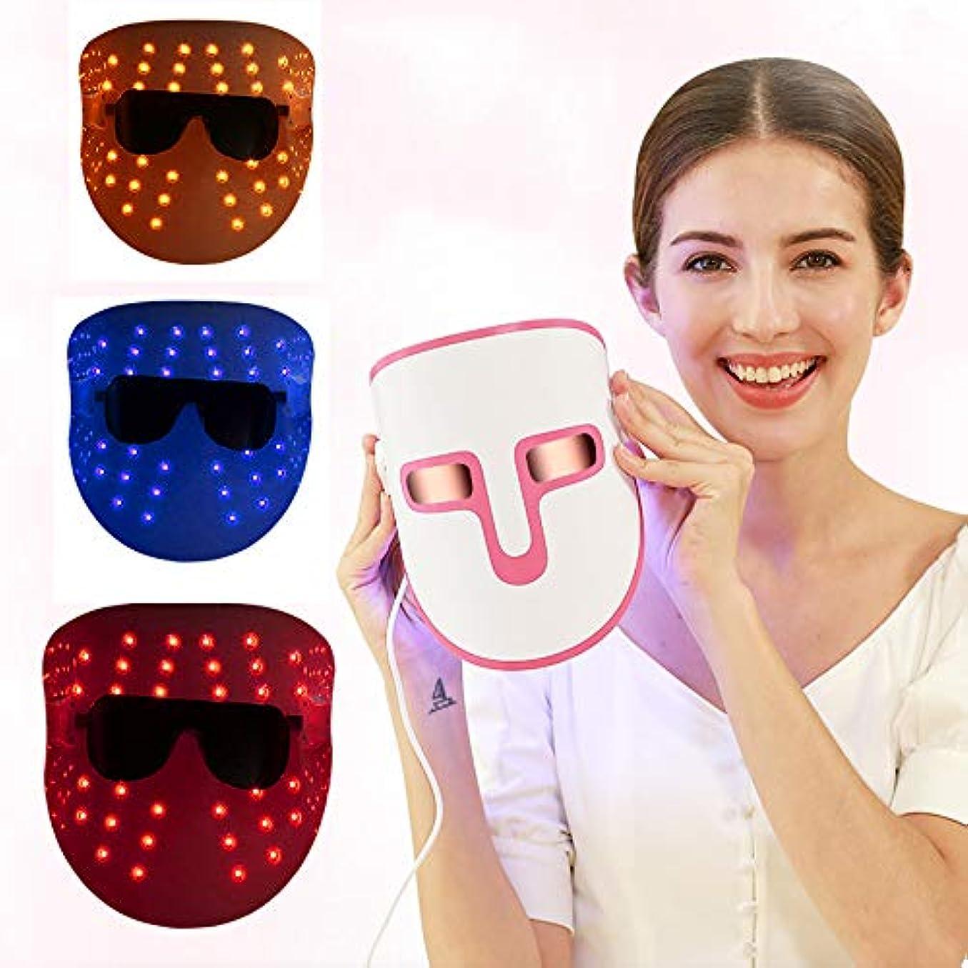 ボール足データLEDフェイスマスク - 健康的な肌の若返りのために光子レッドライトセラピー - コラーゲン、アンチエイジング、しわ、瘢痕-Facialスキンケアマスク