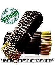 Oakland Gardens 厳選されたお香 白檀/乳香/エジプトのムスク/マンゴーバター/ナグチャンパ/雨の香り 100 x Sandalwood Incense 232528
