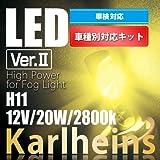 《Karlheins カールハインツ》輸入車車種専用 LED バルブ for フォグ ライト|バルブ切れ警告灯対策用ワーニング キャンセラー機能付|BMW E85 Z4 '03-'09 12V 20W 2800k H11