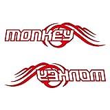 MONKEY モンキー カッティング ステッカー 左右セット レッド 赤