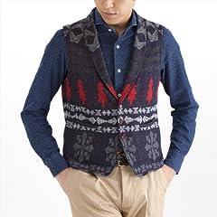 Knit Vest: Navy