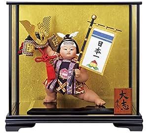 五月人形 桃太郎 ケース飾り 浮世人形 寿喜代作 大志 ガラスケース付 h305-sk-6410